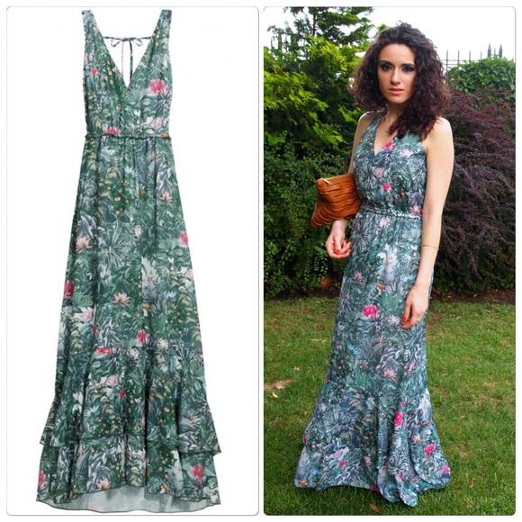 1788599f9 H M Dresses   Skirts - H M Tropical Print Maxi Dress